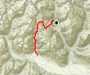 Scott's Track to Crow Valley Track Map