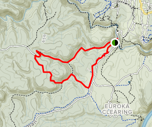 Red Hands Cave Loop Map
