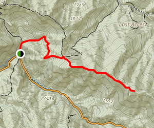 Millvue Peak Trail Map