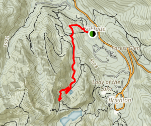 Lake Solitude Via Kruzer Trail Map