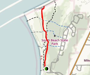 South Jetty Trail Map