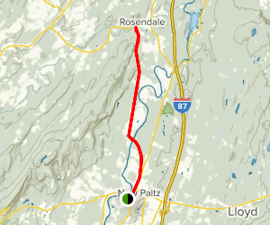Wallkill Valley Rail Trail: New Paltz to Rosendale Map