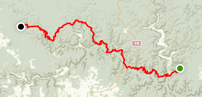 The Ozark Trail: Eleven Point Section Map