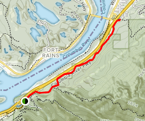 Cascade Locks - Old Columbia River Trail (CLOSED) Map