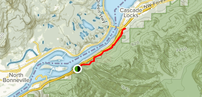Historic Columbia River Highway State Trail Oregon Alltrails - Columbia-river-map-us