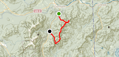 Moriah and Carter Mountains Traverse Map