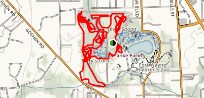Franke Park Area Trails Map