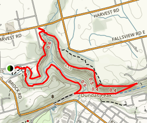 Dundas Valley and the Niagara Escarpment including Webster and Tew's Falls (Rail-Trail) Map