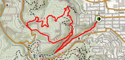 Balch Creek & Wildwood Trail Loop Map