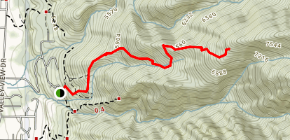 Kays Creek South Fork Trail Map