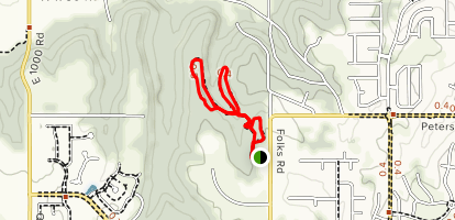 Lawrence Nature Park Loop Trail Map