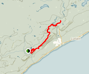 Superior Hiking Trail: Oberg Mountain, Moose Mountain, and Lutsen Map