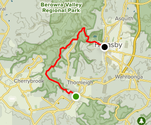 Great North Walk: Thornleigh to Hornsby Map