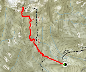 Mount Elinor via Upper Trailhead Map