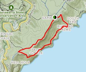 Garawarra Ridge to Burning Palms Beach Map