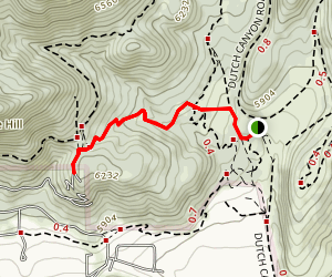 Donkey Ridge Trail Map
