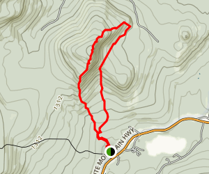 White Ledge Loop Trail Map