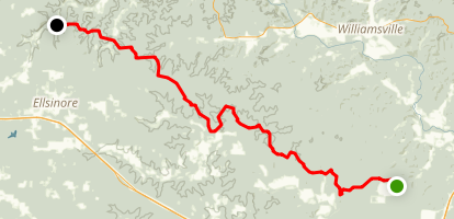 Victory Horse Section of The Ozark Trail Map