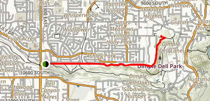 Dimple Dell Trail Map