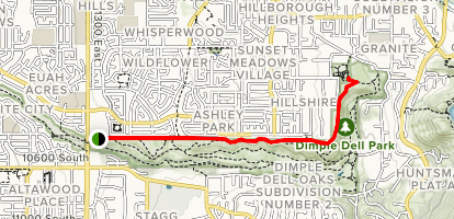 Dimple Dell Trail - Utah | AllTrails on map of city of centennial services, map of columbia park, map scale amusement park, map of picnic areas at hermann park,