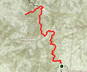 Combs Peak via the PCT Map