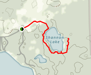 Shannon Lake Trail Map
