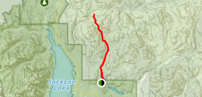 West Pilgram Trail to Brown Meadows Map