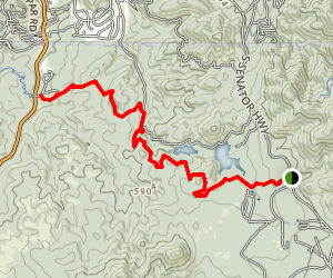 Goldwater Lakes Trail Map