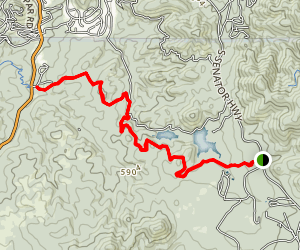 Goldwater Lakes Trail 396 Map
