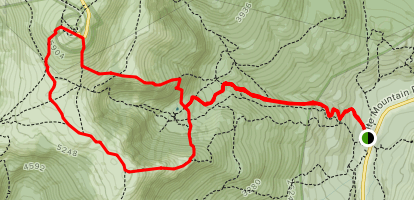 Tuckermans to Lion Head Trail to Davis Path to Boott Spur Trail Loop Map