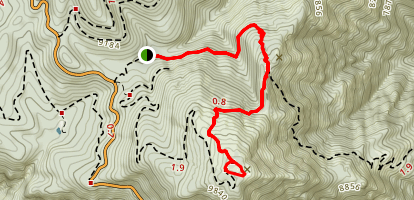 Heliograph Peak Trail #328A Map
