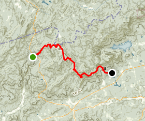 Foothills National Recreation Trail: Rocky Bottom to Table Rock State Park Map