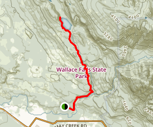 Wallace Lake Via Woody Trail and Greg Ball Trail Map