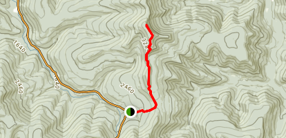 Giant Ledge and Panther Mountain Trail Map