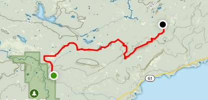 Superior Hiking Trail: Clear Cut, Tom's Road, and the Busy Beaver Map