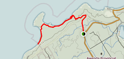 Awenda Beach Trail Map