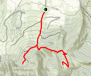 Lower Mount Ellis Trail Map