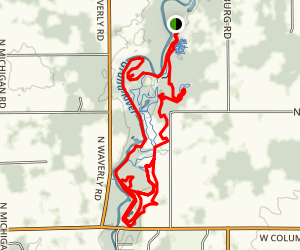 Burchfield Park Singletrack Map