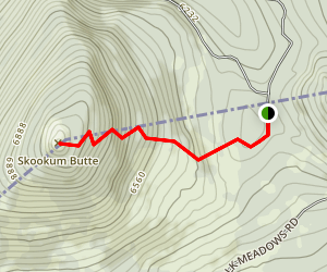 Skookum Butte Map