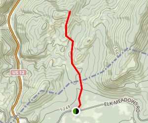 Wagon Mountain Trail from Packer Meadows Map