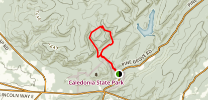 Hosack Run Loop via Appalachian Trail Map