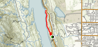 Horsetooth Resevoir North Foothills Trail Map
