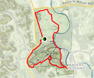 Mountain Bike, Foshee and Highway Trail Loop  Map