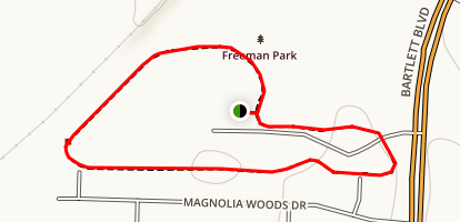 Freeman Park Loop Trail Map
