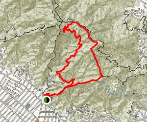 Mount Thom and Tongva Peak Loop Map