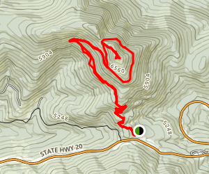 Columbia Mountain  (Kettle Crest North) Map