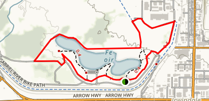 Santa Fe Dam Loop Trail Map