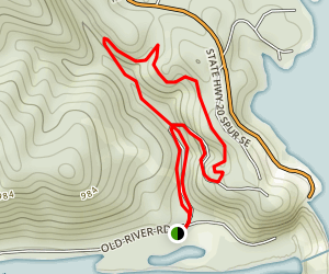 Allatoona Lake Via Cooper's Furnace Trail Map