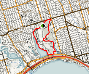 High Park Area Trails Map