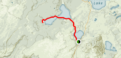 Shoshone Lake Via Canoe Map